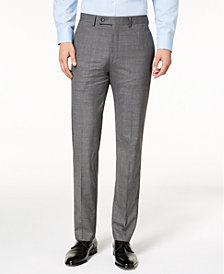 Calvin Klein Men's Slim-Fit Stretch Plaid Dress Pants