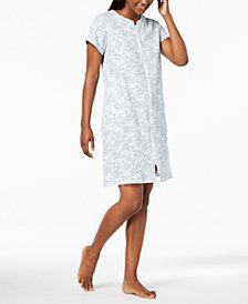 Miss Elaine Paisley-Print Knit Robe