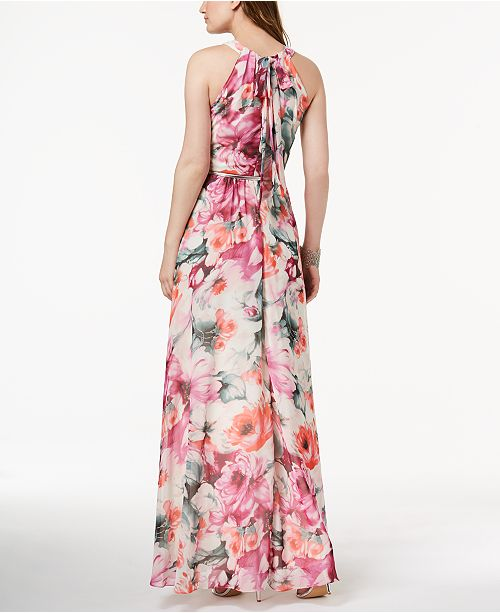 9ac204146c612 INC International Concepts I.N.C. Petite Printed Belted Halter Maxi Dress,  Created for Macy's ...