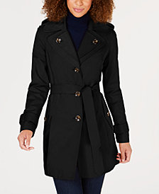 London Fog Petite Belted Trench Coat