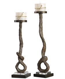 Uttermost Driftwood Candleholders, Set of 2