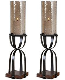 Uttermost Arka Dark Bronze Candleholders, Set of 2