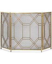Uttermost Rosen Gold-Leaf Fireplace Screen