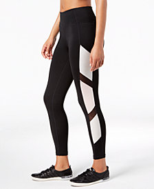 Calvin Klein Performance Metallic Colorblocked High-Waist Leggings