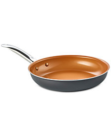 """Bella KitchenSmith Copper Ceramic-Coated 10"""" Fry Pan"""