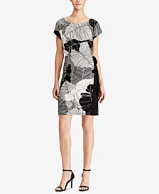 American Living Two-Tone Printed Jersey Dress