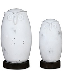 Set of 2 Hoot Owl Figurines