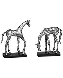 Uttermost Set of 2 Let's Graze Horse Statues
