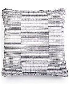 LAST ACT! Lucky Brand Broken Stripe Cotton European Sham, Created for Macy's