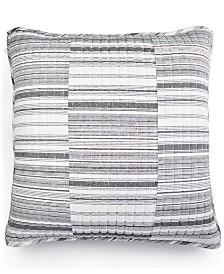 LAST ACT! Lucky Brand Broken Stripe Cotton European Sham, Created for Macy's