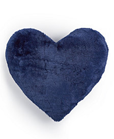 "Whim by Martha Stewart Collection Faux-Fur Heart 15"" x 17"" Decorative Pillow, Created for Macy's"