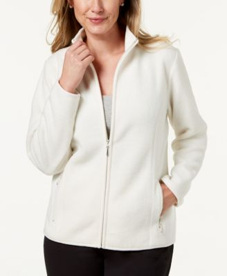 Image of Karen Scott Zeroproof Fleece Jacket, Created for Macy's