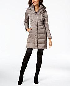 T Tahari Hooded Puffer Coat
