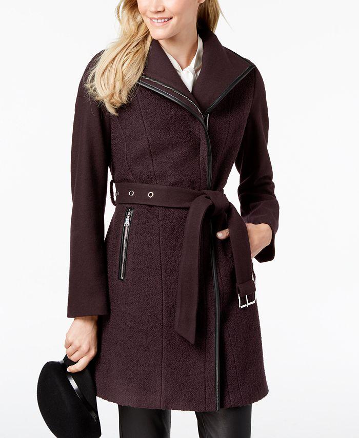 Tahari - Asymmetrical Belted Coat