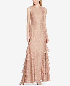 Lauren Ralph Lauren Lace Sleeveless Gown