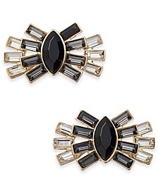 Thalia Sodi Gold-Tone Crystal & Stone Fan Stud Earrings, Created for Macy's