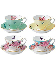 Miranda Kerr for Mixed Pattern Teacup & Saucer Service for 4