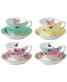 Miranda Kerr for Royal Albert Mixed Pattern Teacup & Saucer Service for 4