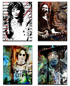 Limited Edition 'Rock Stars' 4-Pc. Canvas Art Print Set