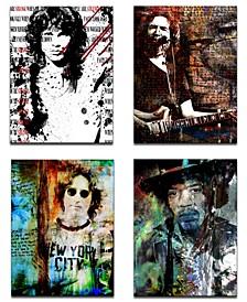Limited Edition 'Rock Stars' 4-Pc. Canvas Art Print Set