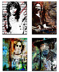 Ready2HangArt Limited Edition 'Rock Stars' 4-Pc. Canvas Art Print Set