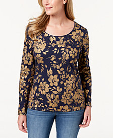 Karen Scott Floral-Print Top, Created for Macy's