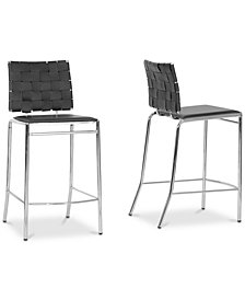 Datya Counter Stool (Set of 2), Quick Ship
