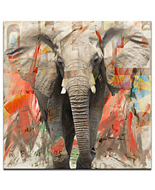 Ready2HangArt 'Saddle Ink Elephant I' Canvas Art Print