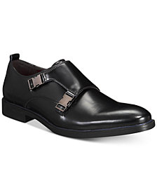 AlfaTech by Alfani Men's Heath Double Monk Plain-Toe Loafers, Created for Macy's