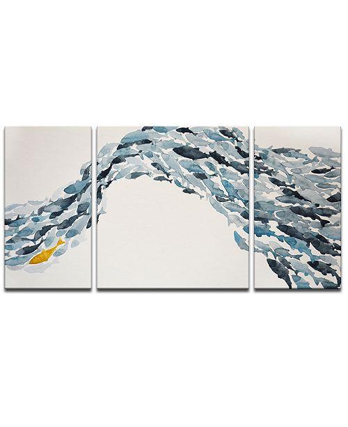 Ready2HangArt 'Goldfish' 3-Pc. Canvas Art Print Set
