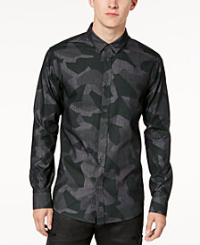 A|X Armani Exchange Men's Camo-Print Slim Fit Shirt