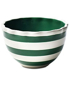 Coton Colors Spot On Ruffle Emerald Bowl
