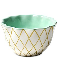 by Laura Johnson Emerald Collection Gold Diamond Ruffle Appetizer Bowl