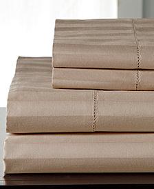 Andiamo Stripe Cotton 500-Thread Count 4-Pc. Full Sheet Set