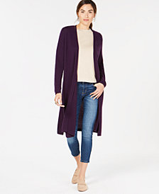 Charter Club Solid Pure Cashmere Maxi Duster in Regular & Petite Sizes, Created for Macy's