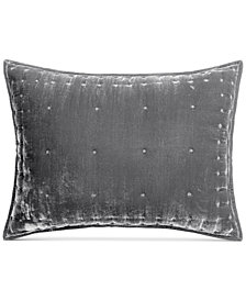 Martha Stewart Collection Tufted Velvet Standard Sham, Created for Macy's