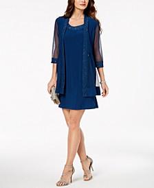 Petite Embellished Dress & Jacket