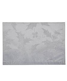 CLOSEOUT! Elrene  Metallic Holly Placemat