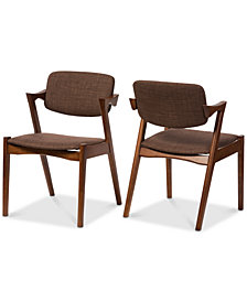 Nicholina Dining Arm Chair (Set of 2), Quick Ship