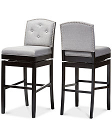 Haldys Swivel Bar Stool (Set of 2), Quick Ship