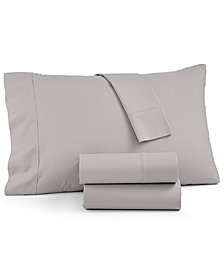 AQ Textiles York 600 Thread Count 4-Pc. Extra Deep Queen Sheet Set, Created For Macy's