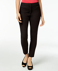 Maison Jules Zip-Pocket Skinny Pants, Created for Macy's