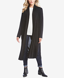 Karen Kane Long Shawl-Collar Cardigan