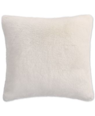Faux Fur Ivory European Sham, Created for Macy's