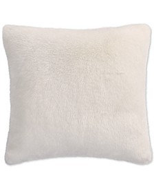 CLOSEOUT! Faux Fur Ivory European Sham, Created for Macy's