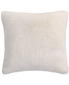 Lucky Brand Faux Fur Ivory European Sham, Created for Macy's