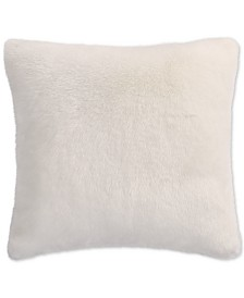 CLOSEOUT! Lucky Brand Faux Fur Ivory European Sham, Created for Macy's