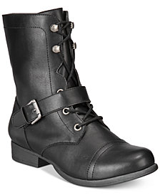 American Rag Farrahh Combat Boots, Created for Macy's