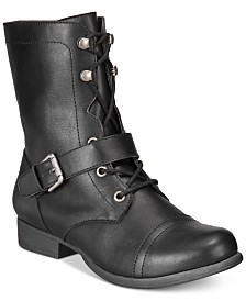 American Rag Farahh Combat Booties, Created for Macy's