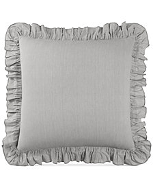 Lucky Brand Cotton Tile Seed Stitch European Sham, Created for Macy's